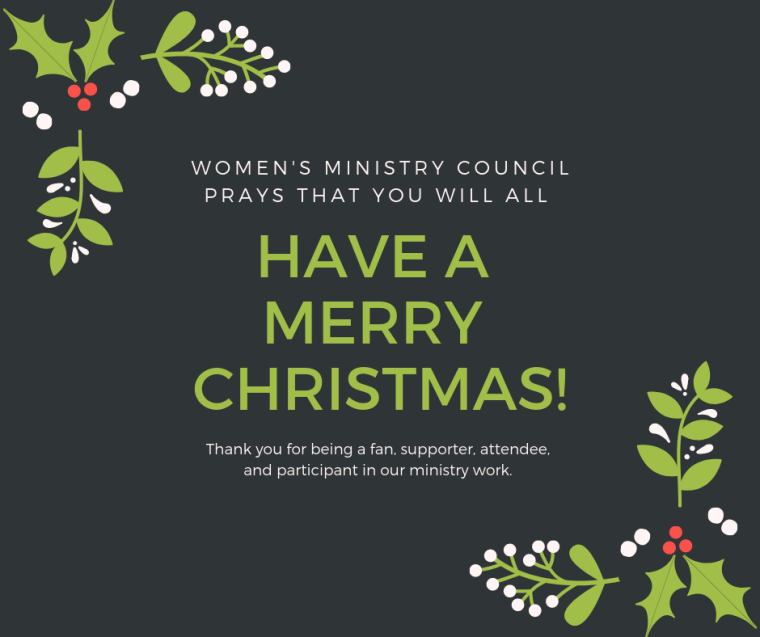 Women's Ministry Council prays that you will all