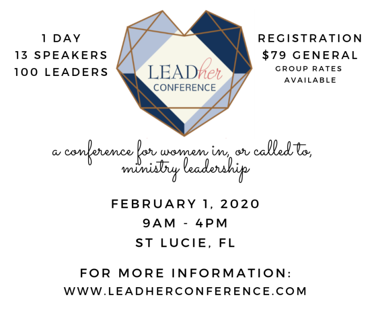 a conference for women in, or called to, ministry leadership